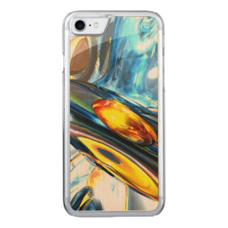 Oscillating Color Abstract Carved iPhone 7 Case