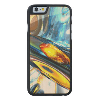 Oscillating Color Abstract Carved® Maple iPhone 6 Case