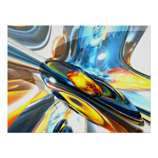 Oscillating Color Abstract Poster