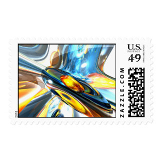 Oscillating Color Abstract Stamp