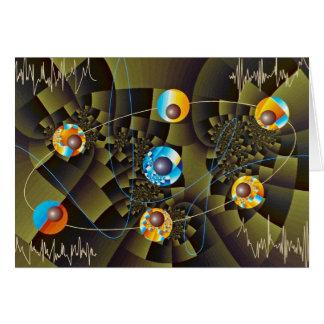Oscillations Orbit Greeting Card
