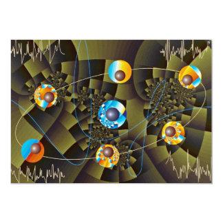 Oscillations Orbit 5x7 Paper Invitation Card