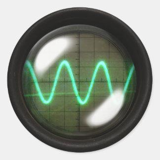 Oscillator Classic Round Sticker