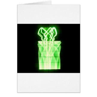 Oscilloscope Flowers in Vase Card