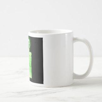 Oscilloscope Flowers in Vase Coffee Mug