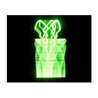 Oscilloscope Flowers in Vase Post Card
