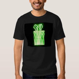 Oscilloscope Flowers in Vase Shirt
