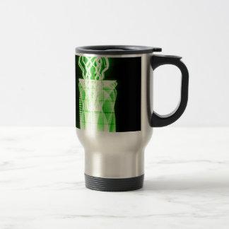 Oscilloscope Flowers in Vase Travel Mug