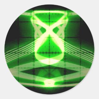 Oscilloscope Grasshopper Classic Round Sticker
