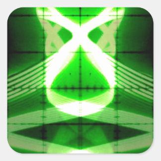 Oscilloscope Grasshopper Square Sticker