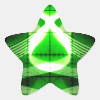 Oscilloscope Grasshopper Star Sticker