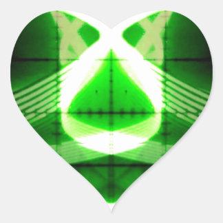 Oscilloscope Grasshopper Heart Sticker