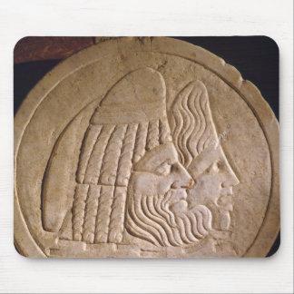Oscillum depicting theatrical masks mouse pad