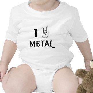 Oscilo el metal pesado trajes de bebé