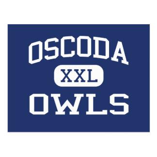 Oscoda - Owls - High School - Oscoda Michigan Postcard