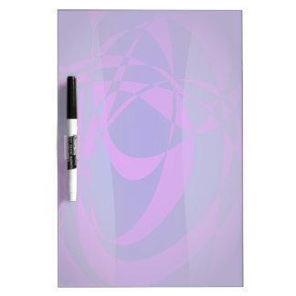 Oscuridad abstracta azul y púrpura tableros blancos