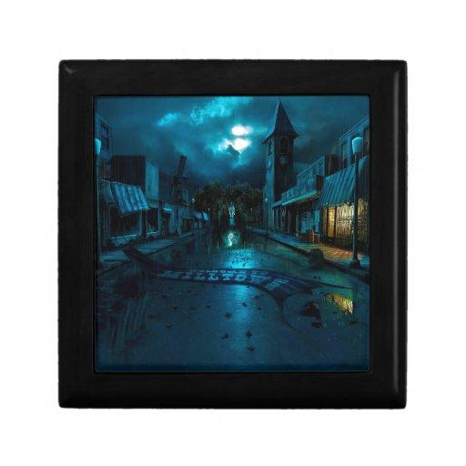 Oscuridad abstracta Milltown de la ciudad Caja De Recuerdo