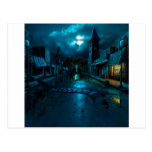 Oscuridad abstracta Milltown de la ciudad Tarjeta Postal