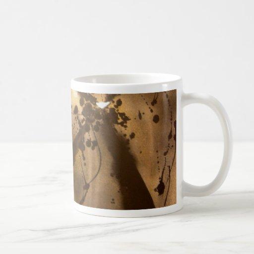 Oscuridad abstracta taza de café