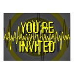 """Oscuridad amarilla sana """"usted es"""" invitación invitación 12,7 x 17,8 cm"""