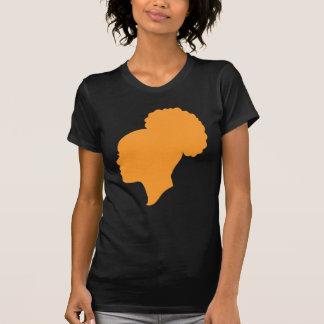 Oscuridad anaranjada del camafeo camiseta
