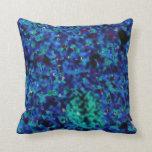 oscuridad azul de la cáscara abstracta de la arena almohadas
