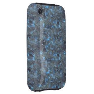 Oscuridad azul del vidrio esmerilado iPhone 3 tough protectores