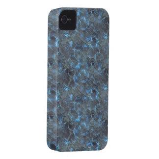 Oscuridad azul del vidrio esmerilado iPhone 4 fundas