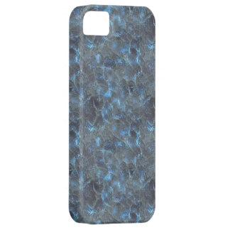 Oscuridad azul del vidrio esmerilado iPhone 5 fundas