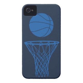 oscuridad azul inconformista de la silueta del bal iPhone 4 cárcasa