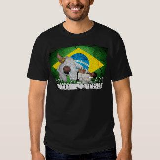 Oscuridad brasileña de la camiseta de Jiu Jitsu Playera