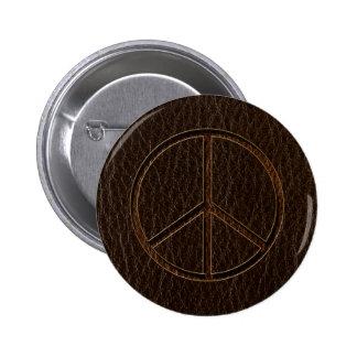 Oscuridad de Brown de la paz de la Cuero-Mirada Pins