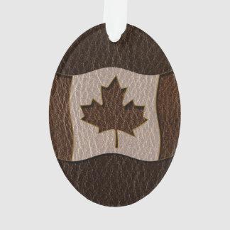 Oscuridad de la bandera de Canadá de la Cuero-Mira