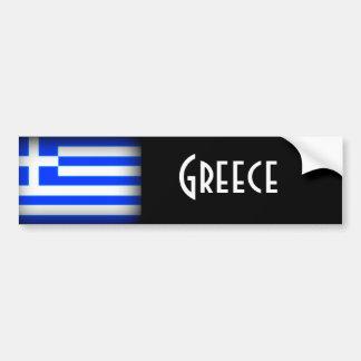 Oscuridad de la bandera de Grecia Etiqueta De Parachoque
