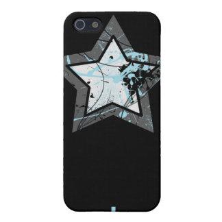 Oscuridad de la caja de la estrella azul iPhone4 iPhone 5 Carcasa
