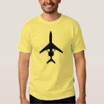 Oscuridad de la camiseta de la aviación de la playeras