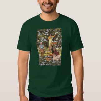 Oscuridad de la camiseta del árbol del dinero poleras