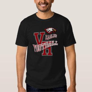 Oscuridad de la camiseta del fútbol de Van Horn Camisas