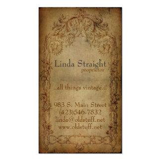 Oscuridad de la elegancia del vintage tarjetas de visita