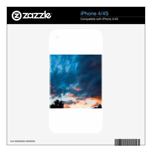 Oscuridad de la oscuridad del cielo calcomanías para iPhone 4S