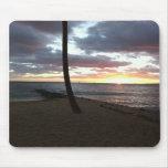 oscuridad de la puesta del sol de Hawaii Tapete De Raton