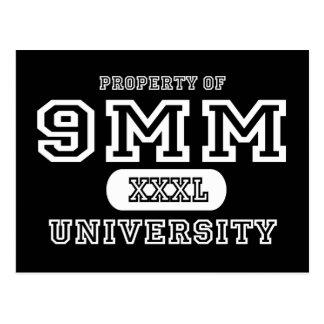 oscuridad de la universidad de 9m m postales
