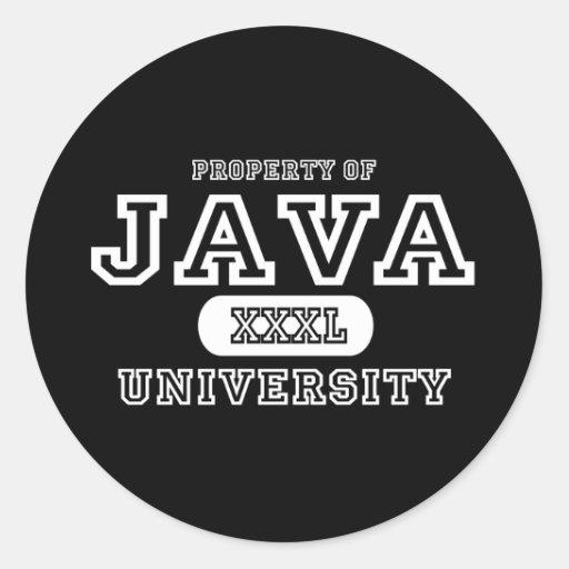 Oscuridad de la universidad de Java Etiqueta