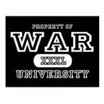 Oscuridad de la universidad de la guerra postal