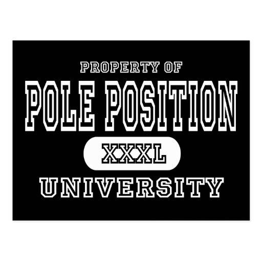 Oscuridad de la universidad de la pole position postal