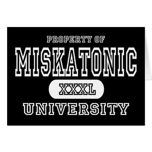 Oscuridad de la universidad de Miskatonic Felicitaciones