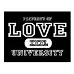 Oscuridad de la universidad del amor tarjeta postal