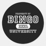 Oscuridad de la universidad del bingo etiquetas