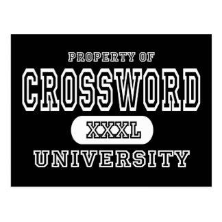 Oscuridad de la universidad del crucigrama postales