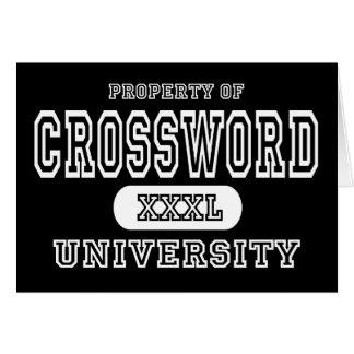 Oscuridad de la universidad del crucigrama tarjeta de felicitación
